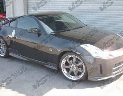 350Z - Side Skirts - VIS Racing - Nissan 350Z VIS Racing Techno R Side Skirt - Carbon Fiber - 03NS3502DTNR-004C