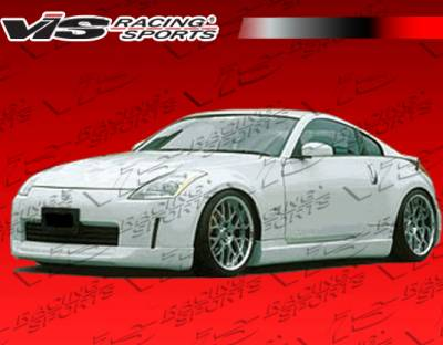350Z - Side Skirts - VIS Racing - Nissan 350Z VIS Racing Wings Side Skirts - Polyurethane - 03NS3502DWIN-004P