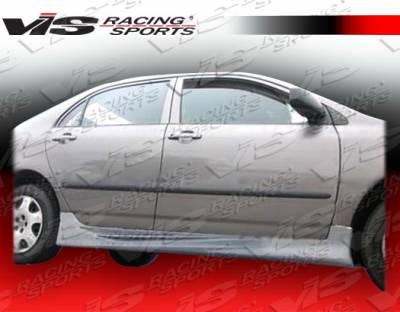 Corolla - Side Skirts - VIS Racing - Toyota Corolla VIS Racing Cyber Side Skirts - 03TYCOR4DCY-004