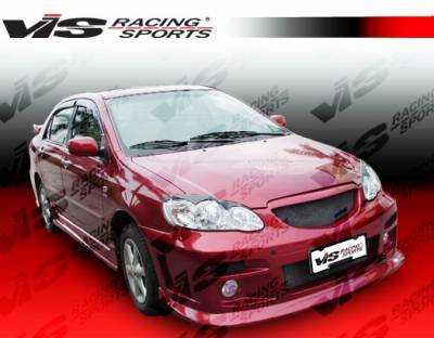 Corolla - Side Skirts - VIS Racing - Toyota Corolla VIS Racing Fuzion Side Skirts - 03TYCOR4DFUZ-004