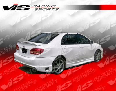 Corolla - Side Skirts - VIS Racing - Toyota Corolla VIS Racing Striker Side Skirts - 03TYCOR4DSTR-004
