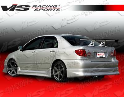 Corolla - Side Skirts - VIS Racing. - Toyota Corolla VIS Racing Techno R-1 Side Skirts - 03TYCOR4DTNR1-004