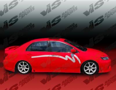 Corolla - Side Skirts - VIS Racing - Toyota Corolla VIS Racing TSC-3 Side Skirts - 03TYCOR4DTSC3-004