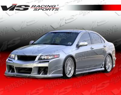TSX - Side Skirts - VIS Racing - Acura TSX VIS Racing Laser Side Skirts - 04ACTSX4DLS-004