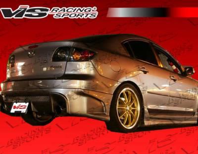3 4Dr HB - Side Skirts - VIS Racing - Mazda 3 4DR HB VIS Racing Laser Side Skirts - 04MZ3HBLS-004