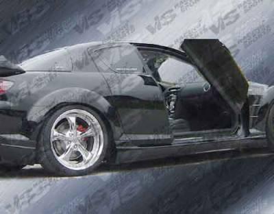 RX8 - Side Skirts - VIS Racing - Mazda RX-8 VIS Racing Razor Side Skirts - 04MZRX82DRAZ-004