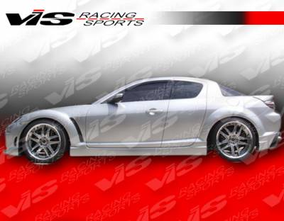 RX8 - Side Skirts - VIS Racing - Mazda RX-8 VIS Racing Wings Side Skirts - 04MZRX82DWIN-004