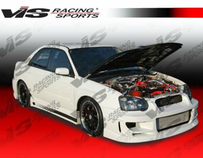 WRX - Side Skirts - VIS Racing - Subaru WRX VIS Racing GTC Side Skirts - 04SBWRX4DGTC-004