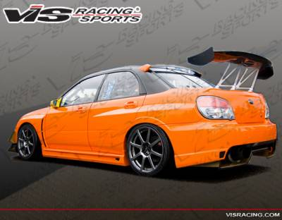 WRX - Side Skirts - VIS Racing - Subaru WRX VIS Racing Oracle Side Skirts - 04SBWRX4DORA-004