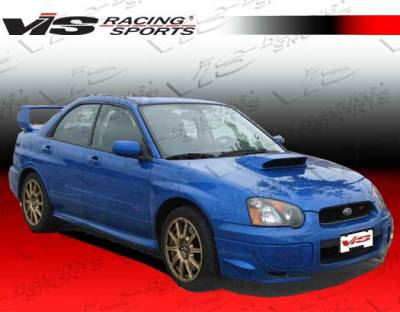 WRX - Side Skirts - VIS Racing. - Subaru WRX VIS Racing STI Side Skirts - 04SBWRX4DSTI-004