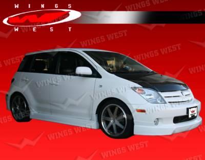 XA - Side Skirts - VIS Racing - Scion xA VIS Racing JPC Side Skirts - Polyurethane - 04SNXA4DJPC-004P