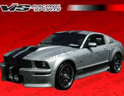 Mustang - Side Skirts - VIS Racing - Ford Mustang VIS Racing Extreme Side Skirts - 05FDMUS2DEX-004