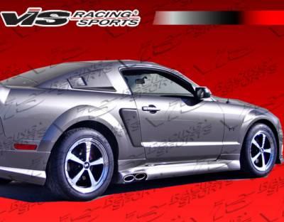 Mustang - Side Skirts - VIS Racing - Ford Mustang VIS Racing Stalker-2 Side Skirts - 05FDMUS2DSTK2-004