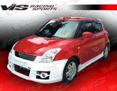 Swift - Side Skirts - VIS Racing - Suzuki Swift VIS Racing A Tech Side Skirts - 05SZSWF4DATH-004