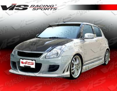 Swift - Side Skirts - VIS Racing - Suzuki Swift VIS Racing Fuzion Side Skirts - 05SZSWF4DFUZ-004