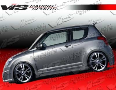 Swift - Side Skirts - VIS Racing - Suzuki Swift VIS Racing Viper Side Skirts - 05SZSWF4DVR-004