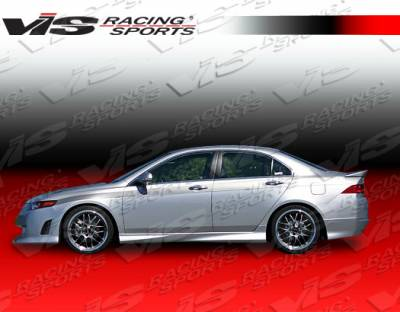 TSX - Side Skirts - VIS Racing - Acura TSX VIS Racing Techno R Side Skirts - 06ACTSX4DTNR-004
