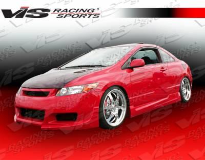 Civic 2Dr - Side Skirts - VIS Racing - Honda Civic 2DR VIS Racing Touring Side Skirts - 06HDCVC2DTOU-004