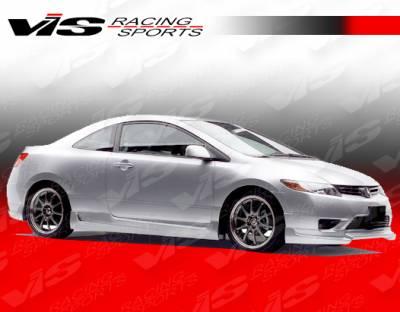 Civic 2Dr - Side Skirts - VIS Racing - Honda Civic 2DR VIS Racing Touring 2 Side Skirts - 06HDCVC2DTOU2-004