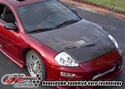 Eclipse - Hoods - AIT Racing - Mitsubishi Eclipse AIT Racing R1 Style Carbon Fiber Hood - ME00BMR1SCFH