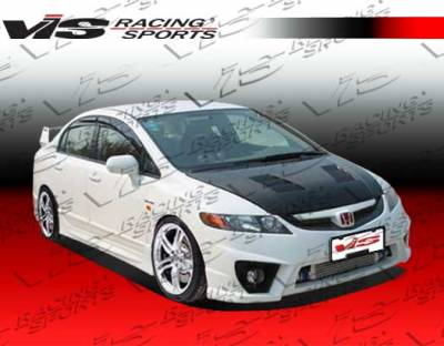 Civic 4Dr - Side Skirts - VIS Racing - Honda Civic 4DR VIS Racing I-Max Side Skirts - 06HDCVC4DIMAX-004