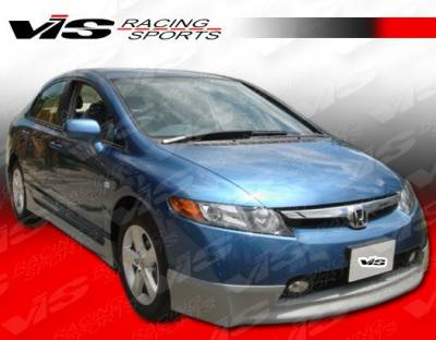 Civic 4Dr - Side Skirts - VIS Racing - Honda Civic 4DR VIS Racing Techno R-1 Side Skirts - 06HDCVC4DTNR1-004