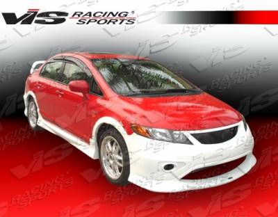 Civic 4Dr - Side Skirts - VIS Racing - Honda Civic 4DR VIS Racing Type R Concept Side Skirts - 06HDCVC4DTRC-004