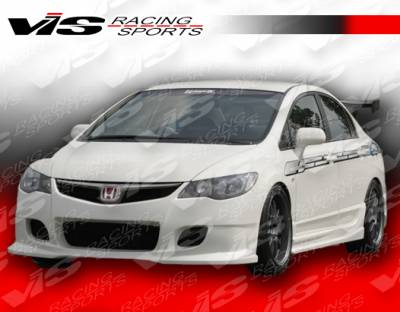 Civic 4Dr - Side Skirts - VIS Racing - Honda Civic 4DR VIS Racing Wings Side Skirts - 06HDCVC4DWIN-004