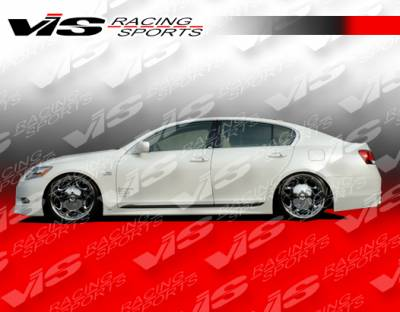 GS - Side Skirts - VIS Racing - Lexus GS VIS Racing VIP Side Skirts - 06LXGS34DVIP-004
