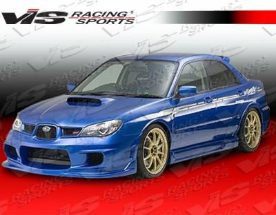 WRX - Side Skirts - VIS Racing - Subaru WRX VIS Racing Wings Side Skirts - 06SBWRX4DWIN-004