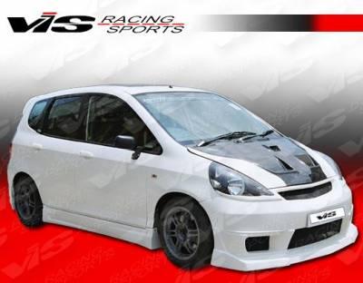 Fit - Side Skirts - VIS Racing - Honda Fit VIS Racing N1 Side Skirts - 07HDFIT4DN1-004