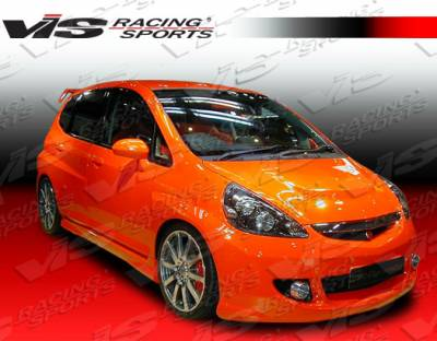 Fit - Side Skirts - VIS Racing - Honda Fit VIS Racing Techno R Widebody Side Skirts - 07HDFIT4DTNRWB-004