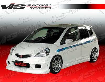Fit - Side Skirts - VIS Racing - Honda Fit VIS Racing Wings Side Skirts - 07HDFIT4DWIN-004