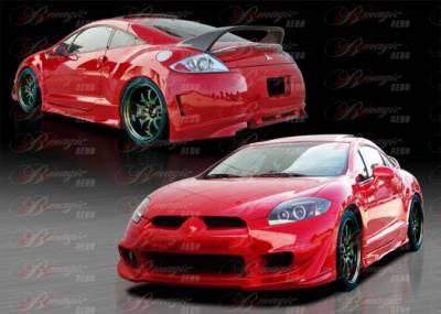Eclipse - Body Kits - AIT Racing - Mitsubishi Eclipse AIT Racing Blackout-3 Style B-Magic Complete Body Kit - ME06BMBKO3CK