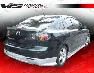 3 4Dr HB - Side Skirts - VIS Racing - Mazda 3 4DR HB VIS Racing VIP Side Skirts - 07MZ34DVIP-004