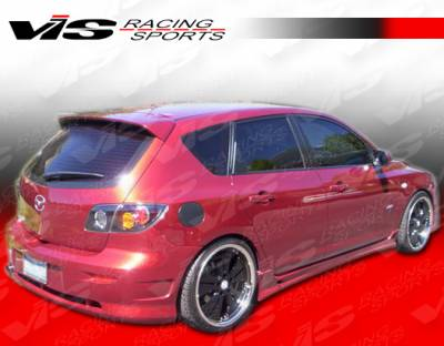 3 4Dr HB - Side Skirts - VIS Racing - Mazda 3 4DR HB VIS Racing Fuzion Side Skirts - 07MZ3HBFUZ-004