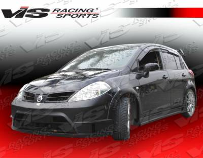 Versa - Side Skirts - VIS Racing - Nissan Versa VIS Racing Rally Side Skirts - 07NSVERHBRAL-004