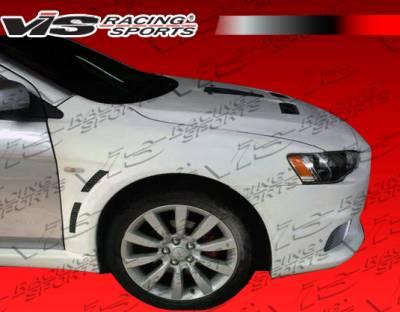 Lancer - Side Skirts - VIS Racing. - Mitsubishi Lancer VIS Racing EVO X Widebody Side Skirts - 08MTLAN4DEVXWB-004