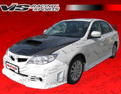 WRX - Side Skirts - VIS Racing - Subaru WRX VIS Racing Rally Side Skirts - 08SBWRX4DRAL-004