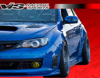 WRX - Side Skirts - VIS Racing - Subaru WRX VIS Racing Z Speed Side Skirts - 08SBWRX4DZSP-004