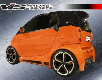 ForTwo - Side Skirts - VIS Racing. - Smart ForTwo VIS Racing Max Widebody Side Skirts - 08SMFR22DMWB-004