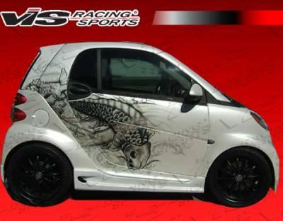 ForTwo - Side Skirts - VIS Racing - Smart ForTwo VIS Racing V Max Side Skirts - 08SMFR22DVMAX-004