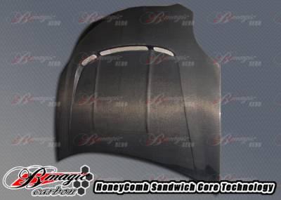 Eclipse - Hoods - AIT Racing - Mitsubishi Eclipse AIT Racing RRS Style Carbon Fiber Hood - ME06BMRRSCFH