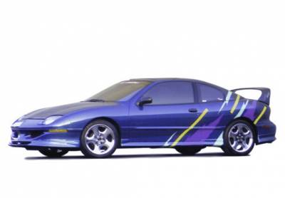 Sunfire - Side Skirts - Wings West - Pontiac Sunfire Wings West Custom Style Side Skirts - Left & Right - Fiberglass - 490084L&R