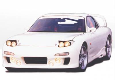 RX7 - Side Skirts - VIS Racing - Mazda RX-7 VIS Racing Custom Left Side Skirt - Fiberglass - 490105L