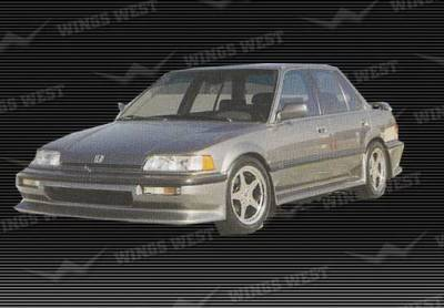Civic 4Dr - Side Skirts - Wings West - Honda Civic 4DR Wings West Side Skirts - Left & Right - Fiberglass - 49170L&R