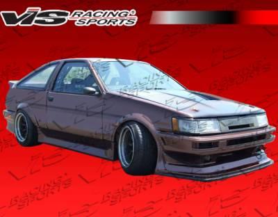 Corolla - Side Skirts - VIS Racing - Toyota Corolla VIS Racing Monster Side Skirts - 84TYCOR2DMON-004