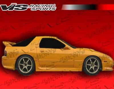 RX7 - Side Skirts - VIS Racing - Mazda RX-7 VIS Racing Ballistix Side Skirts - 86MZRX72DBX-004
