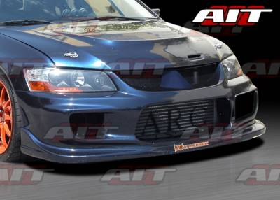 Lancer - Front Bumper - AIT Racing - Mitsubishi Lancer AIT I-Spec Style Front Bumper - MEVO03HIINGFB