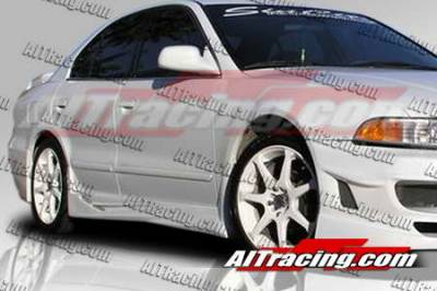 Galant - Side Skirts - AIT Racing - Mitsubishi Galant AIT Racing VIR-2 Style Side Skirts - MG99HIVIR2FB